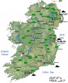 Physical Map of Ireland